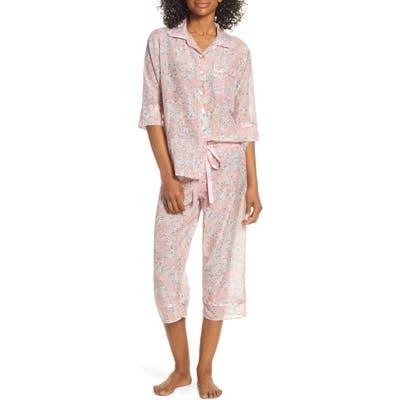 Papinelle Isabelle Cotton & Silk Crop Pajamas, Pink