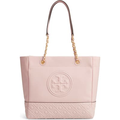 Tory Burch Fleming Leather Tote - Pink