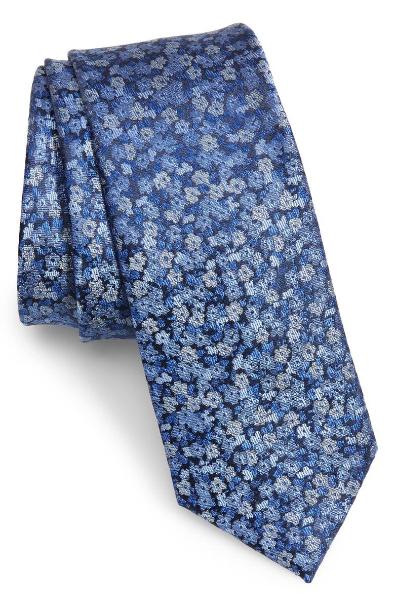 1901 Sereno Floral Skinny Tie, Main, color, 400
