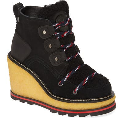 Pajar Tristine Genuine Shearling Waterproof Boot, Black