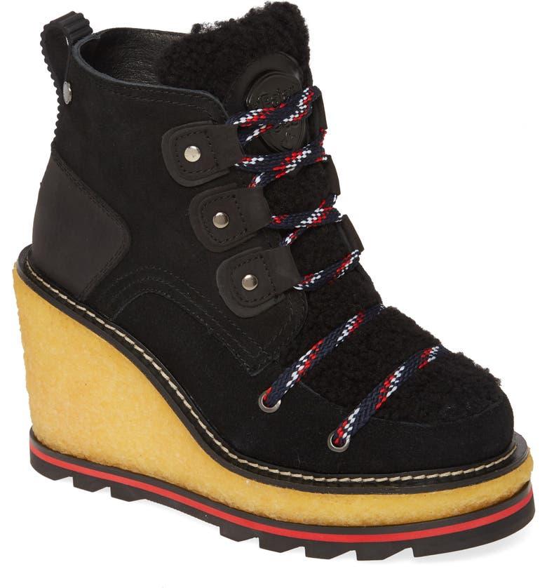 PAJAR Tristine Genuine Shearling Waterproof Boot, Main, color, BLACK