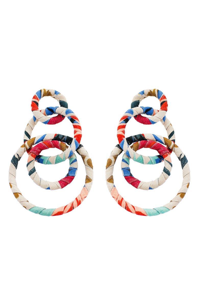 PANACEA Multi Circle Earrings, Main, color, MULTI