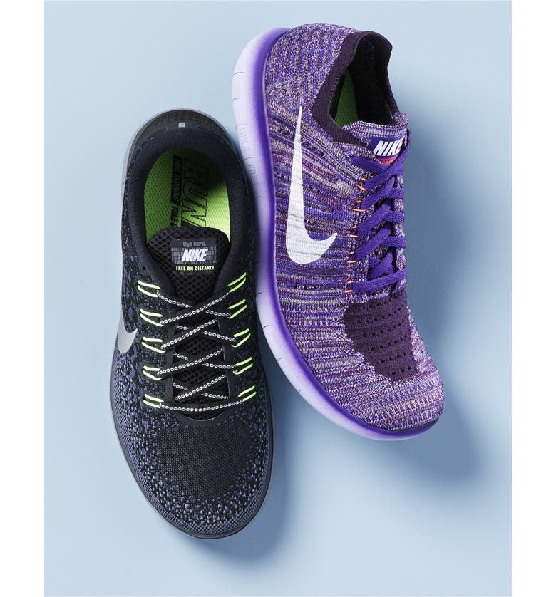 NIKE 'Free Flyknit' Running Shoe, Main, color, 405