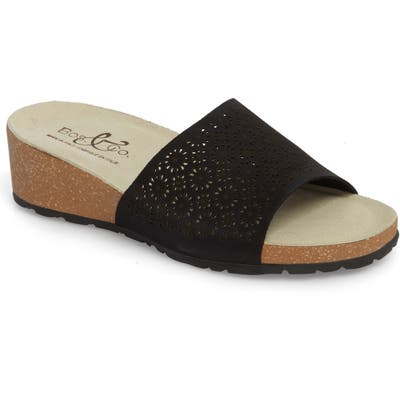 Bos. & Co. Loa Wedge Slide Sandal, Black