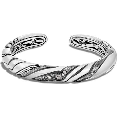 John Hardy Small Kick Cuff Bracelet With Diamonds