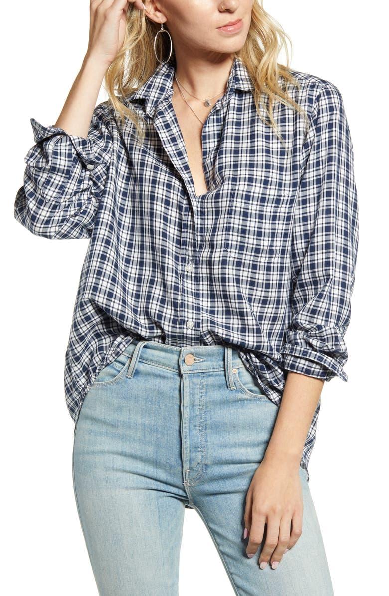 GRAYSON The Hero Plaid Button-Up Shirt, Main, color, TONI