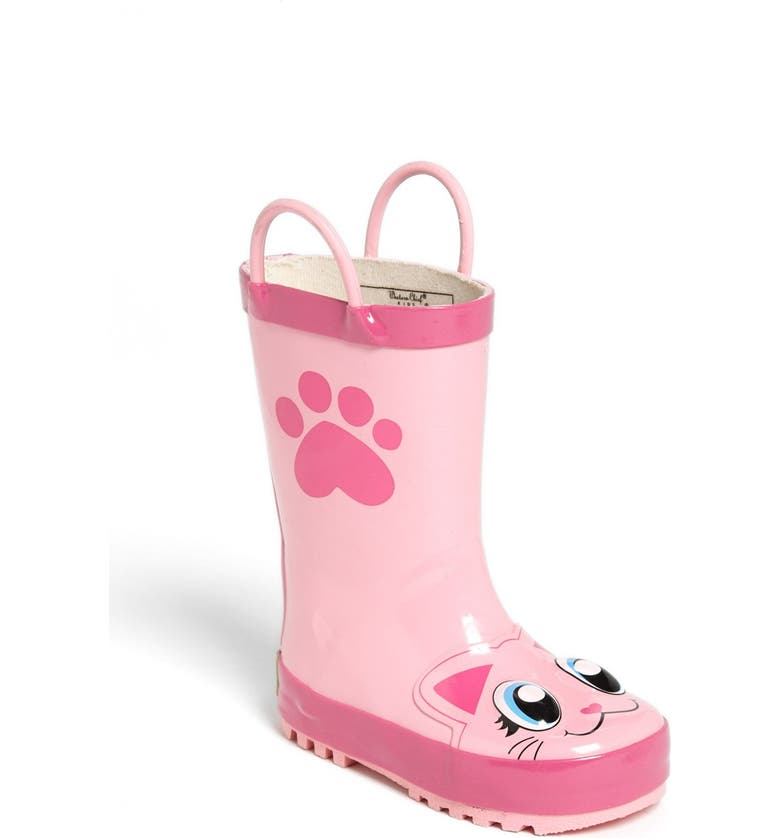 WESTERN CHIEF Kitty Waterproof Rain Boot, Main, color, PINK