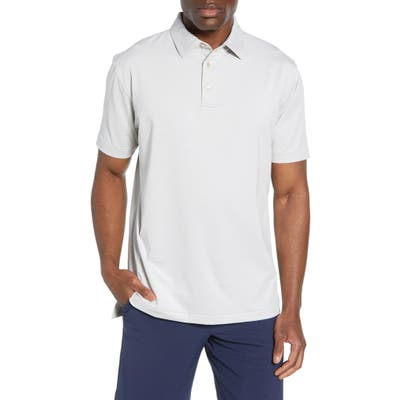 Peter Millar Halford Stripe Stretch Jersey Polo, Black