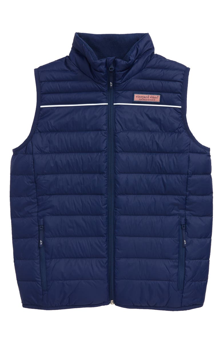 VINEYARD VINES Mountain Weekend Performance Quilted Down Vest, Main, color, 400