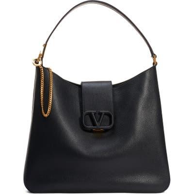 Valentino Garavani Vsling Calfskin Hobo Bag - Black