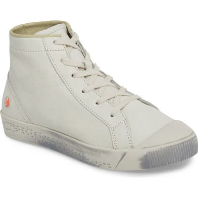 Softinos By Fly London Kip High Top Sneaker - White