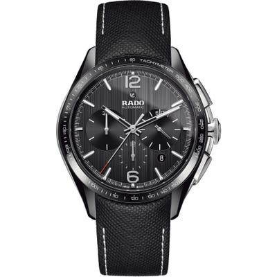 Rado Hyperchrome Automatic Chronograph Textile Strap Watch, 45Mm