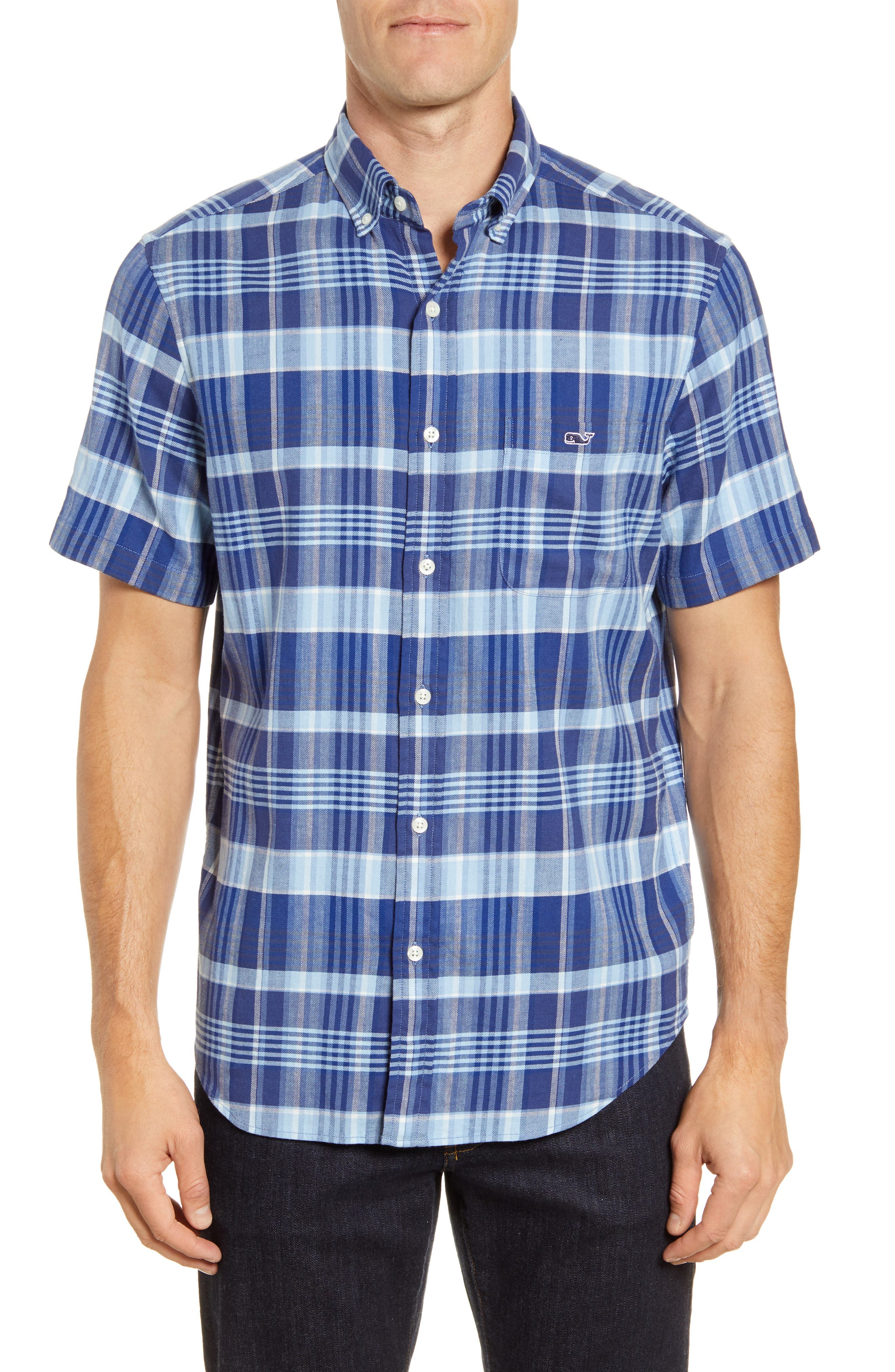 Image of Vineyard Vines Tucker Classic Fit Plaid Short Sleeve Button-Down Shirt