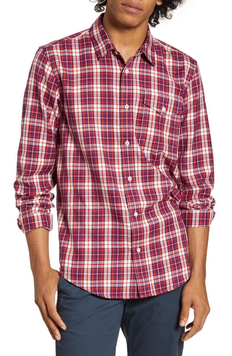 SCOTCH & SODA Regular Fit Check Print Button-Up Shirt, Main, color, 270