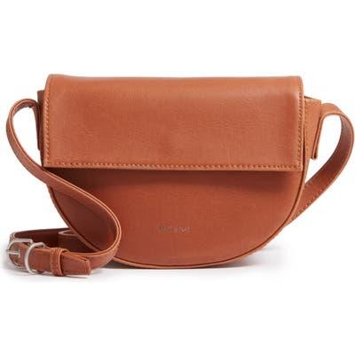 Matt & Nat Rith Vintage Collection Faux Leather Saddle Bag - Brown