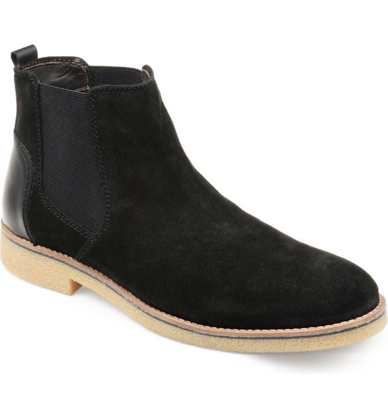 THOMAS & VINE Hendrix Chelsea Boot, Main, color, BLACK SUEDE