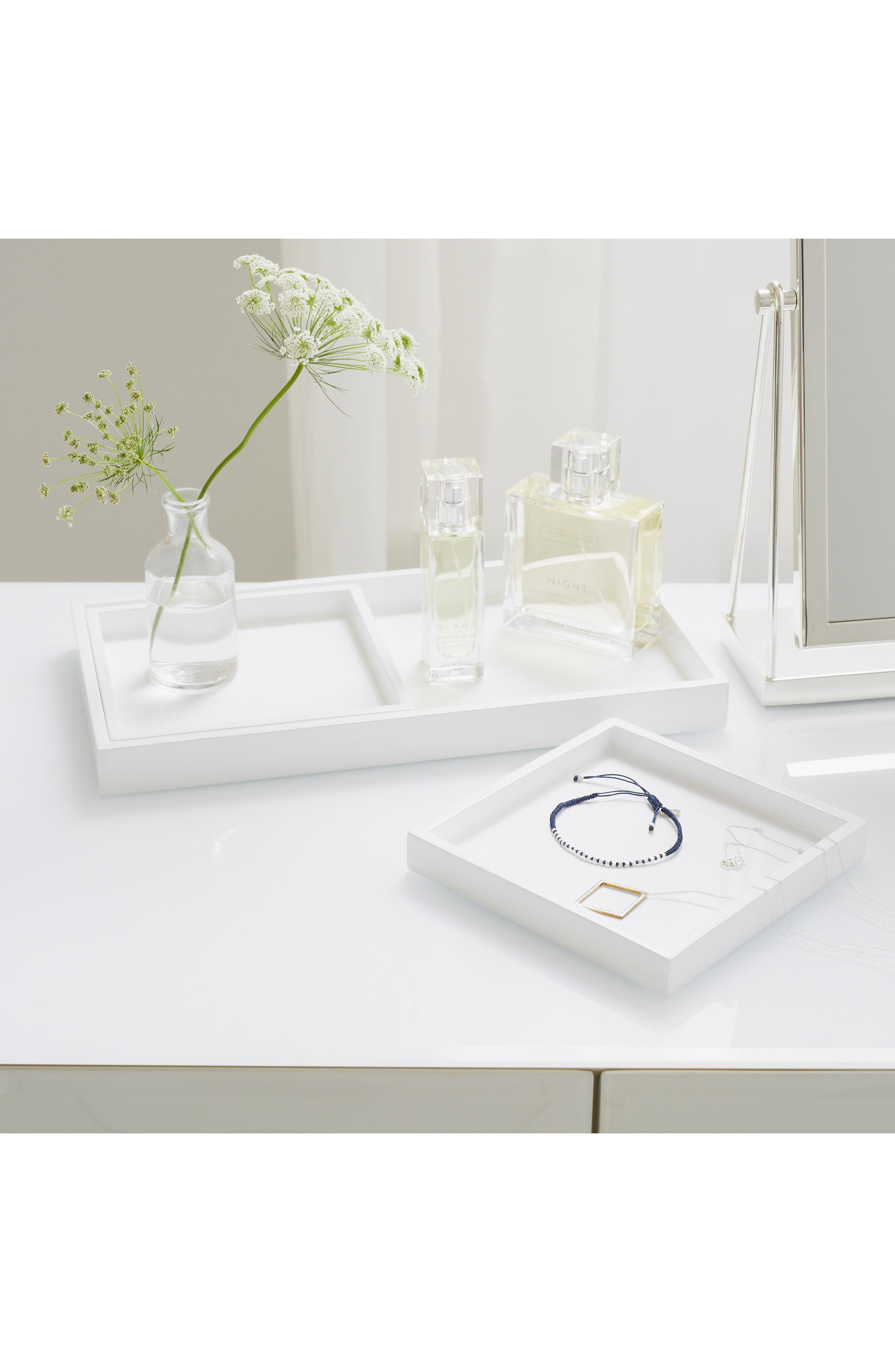 The White Company Set Of 3 Lacquer Dressing Table Trays Size One Size  White