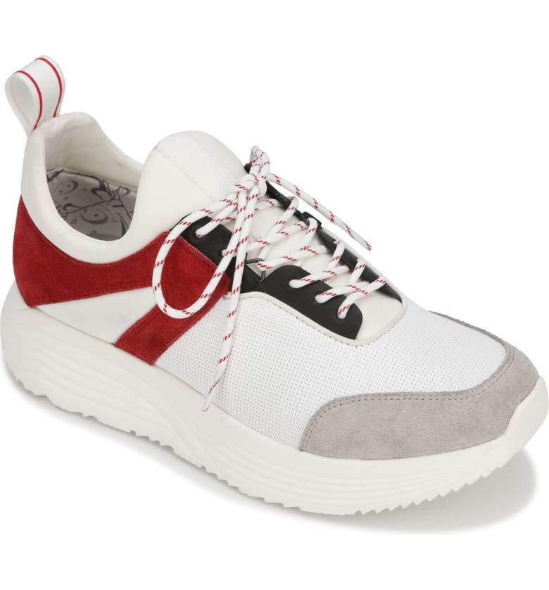 KENNETH COLE NEW YORK Un-Dad Sneaker, Main, color, WHITE/ RED LEATHER