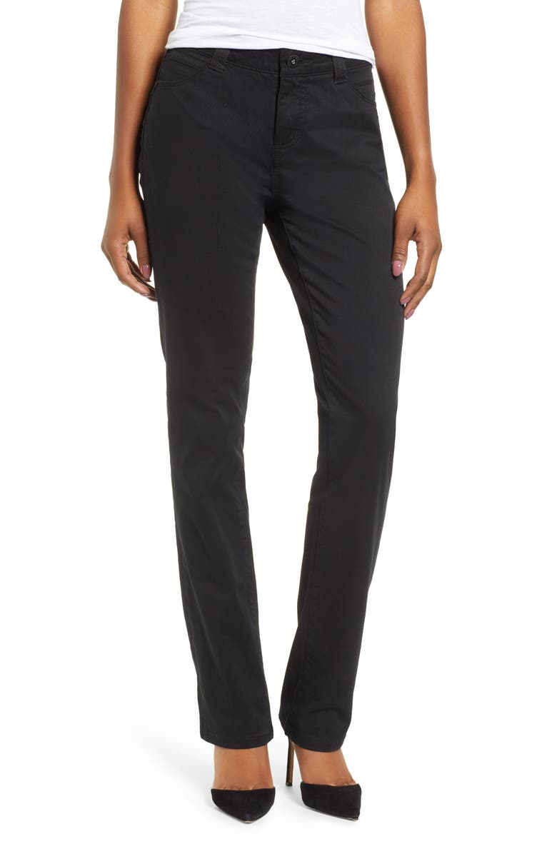 JAG JEANS Ruby Straight Pants, Main, color, BLACK