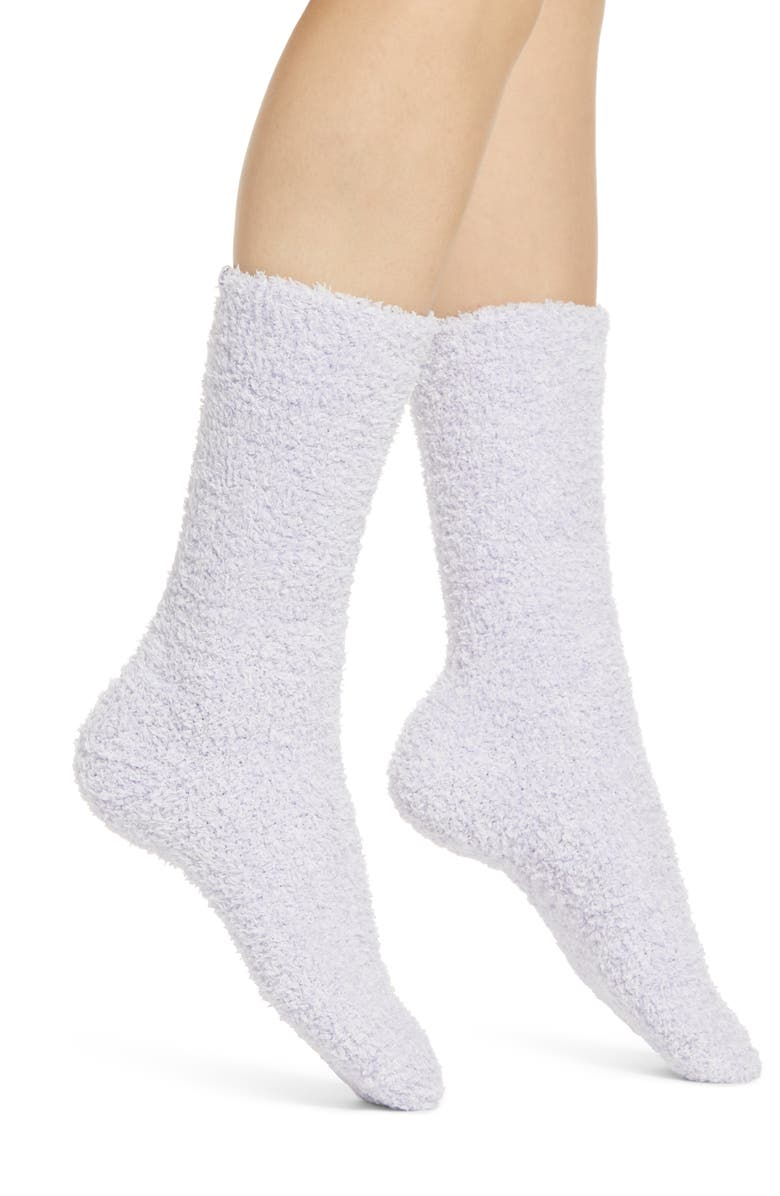 BAREFOOT DREAMS<SUP>®</SUP> CozyChic<sup>®</sup> Socks, Main, color, HEATHER LIGHT LAVENDER/ WHITE