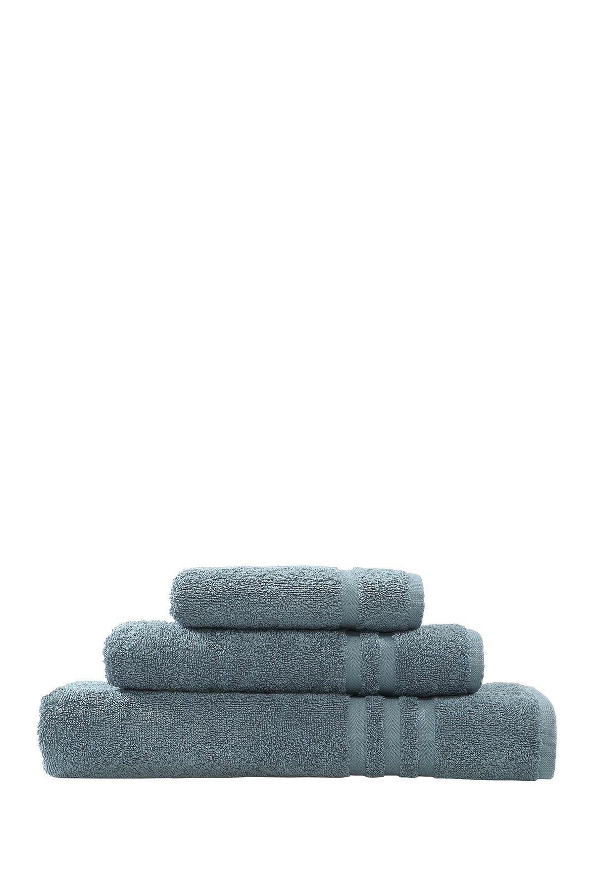 Image of LINUM HOME Denzi 3-Piece Towel Set - Denzi Blue