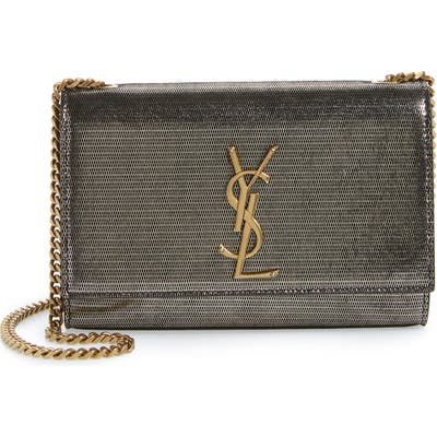 Saint Laurent Small Kate Lambskin Chain Crossbody Bag - Metallic