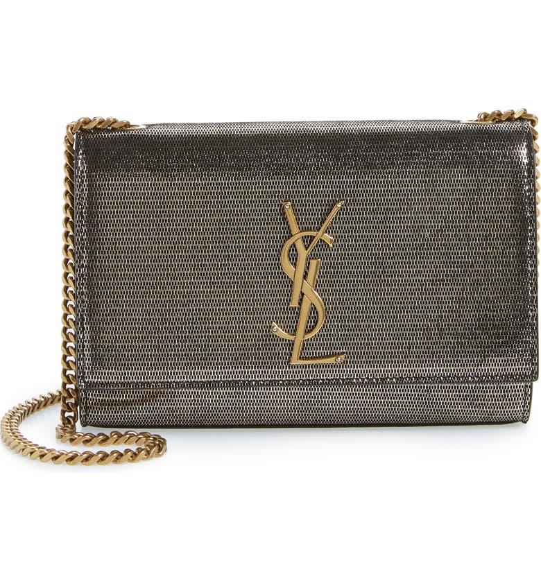 SAINT LAURENT Small Kate Lambskin Chain Crossbody Bag, Main, color, 040