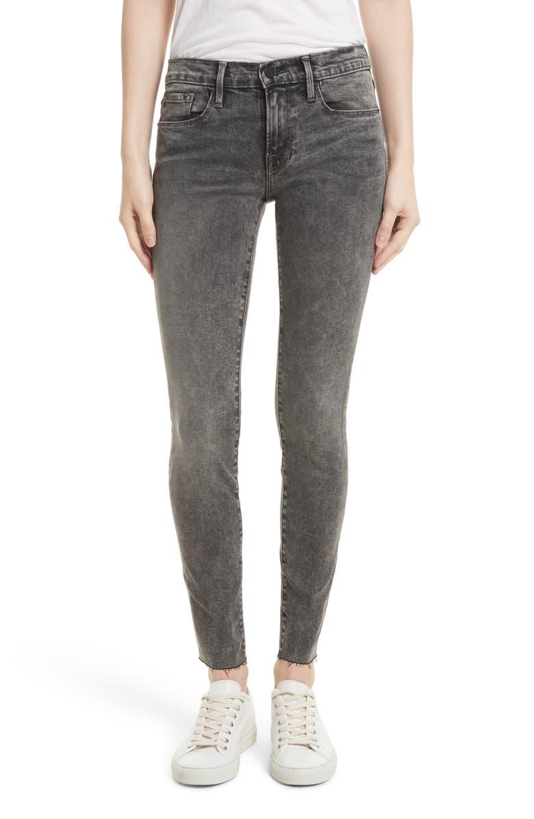 FRAME Le Skinny de Jeanne Raw Edge Skinny Jeans, Main, color, 030
