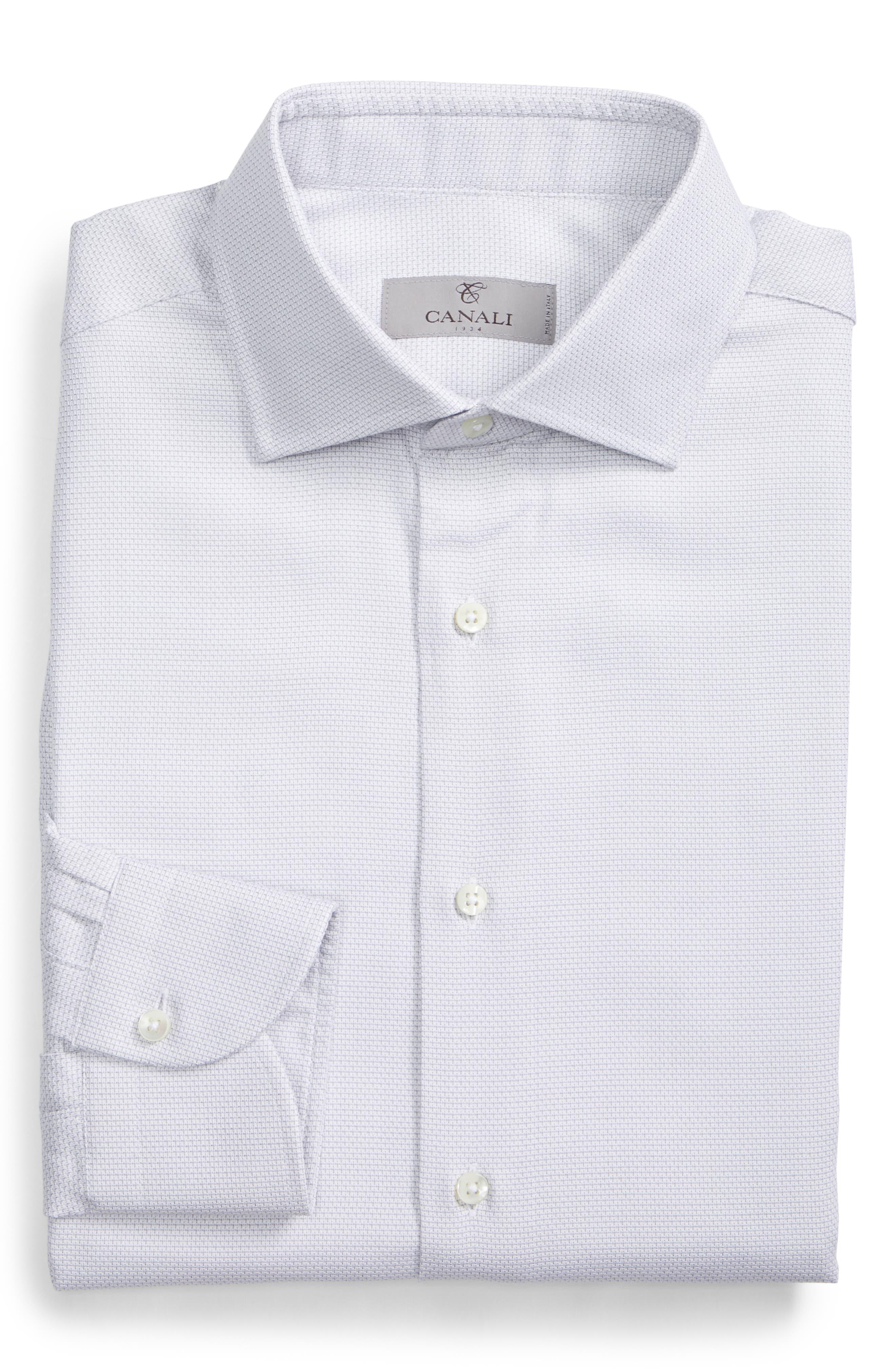 ,                             Regular Fit Solid Dress Shirt,                             Alternate thumbnail 6, color,                             SILVER