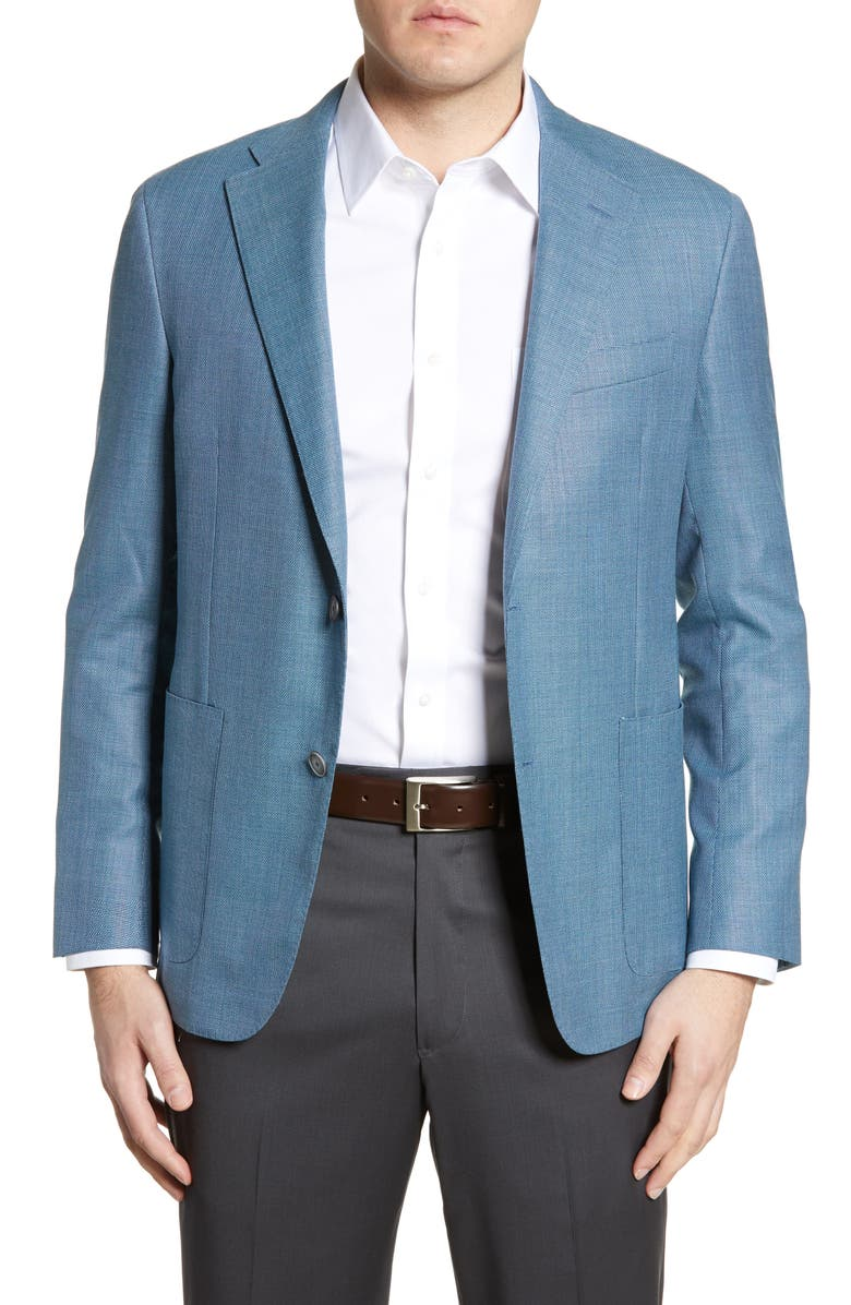 HICKEY FREEMAN Global Guardian Classic Fit Solid Wool Sport Coat, Main, color, 422
