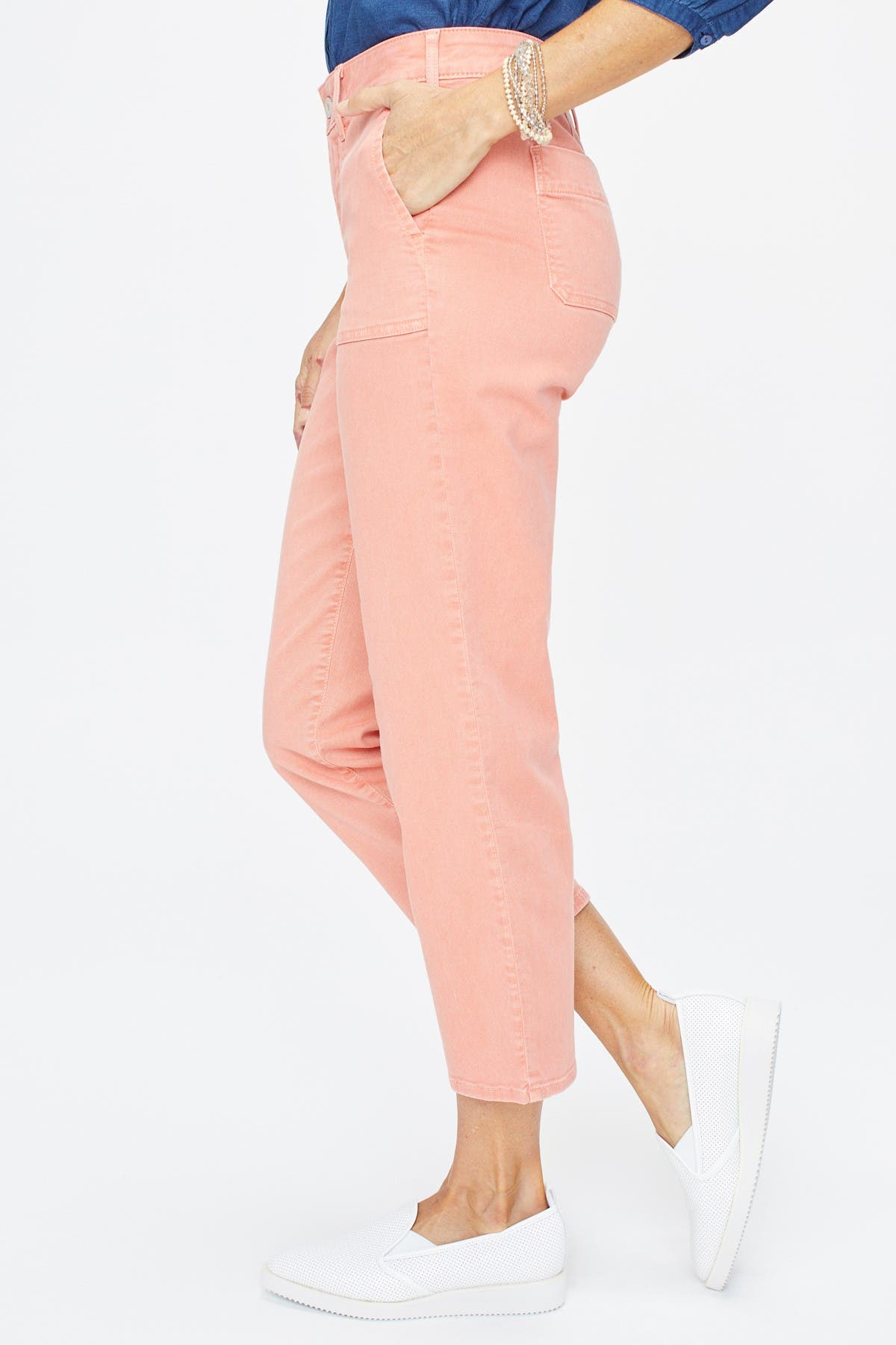 Choose SZ//color Details about  /NYDJ Women/'s Size Plus Straight Ankle Chino Pant