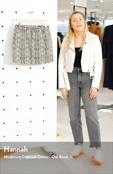 Snake Print Denim Miniskirt, sales video thumbnail