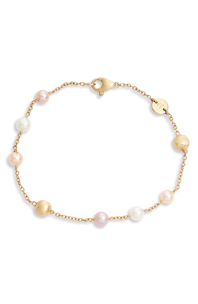 MARCO BICEGO Africa Pearl Bracelet, Main, color, YELLOW GOLD/ PEARL