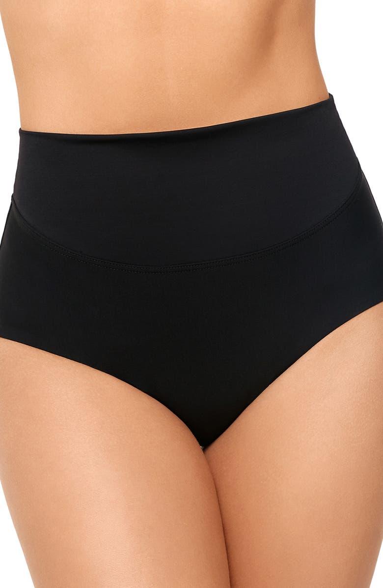 AMORESSA Martini High Waist Bikini Bottoms, Main, color, 001