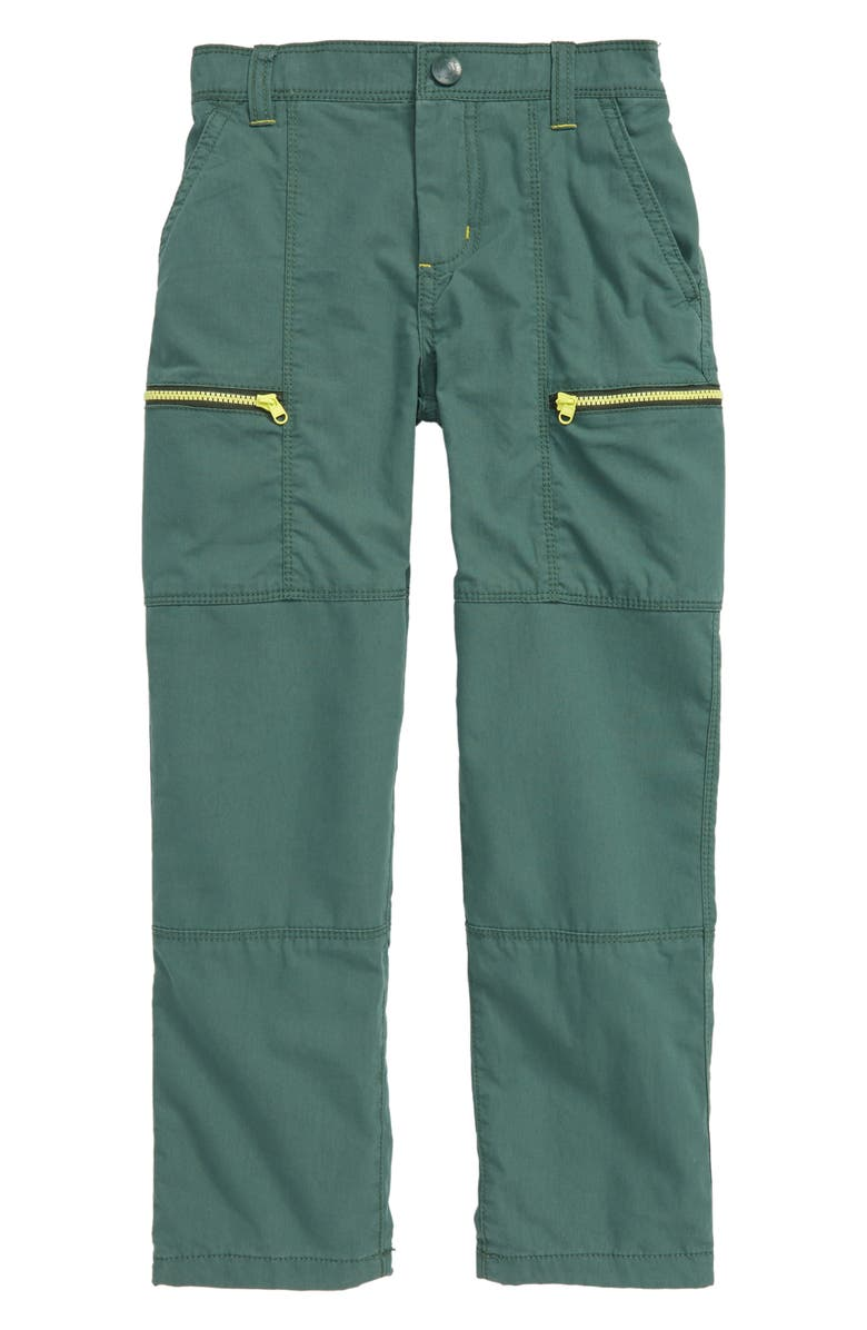 MINI BODEN Lined Skate Pants, Main, color, MONSTER GREEN