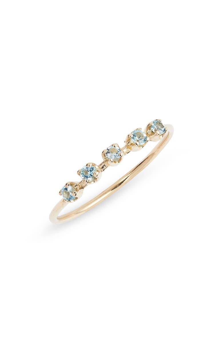 LOREN STEWART Blue Topaz Cinq Ring, Main, color, BLUE