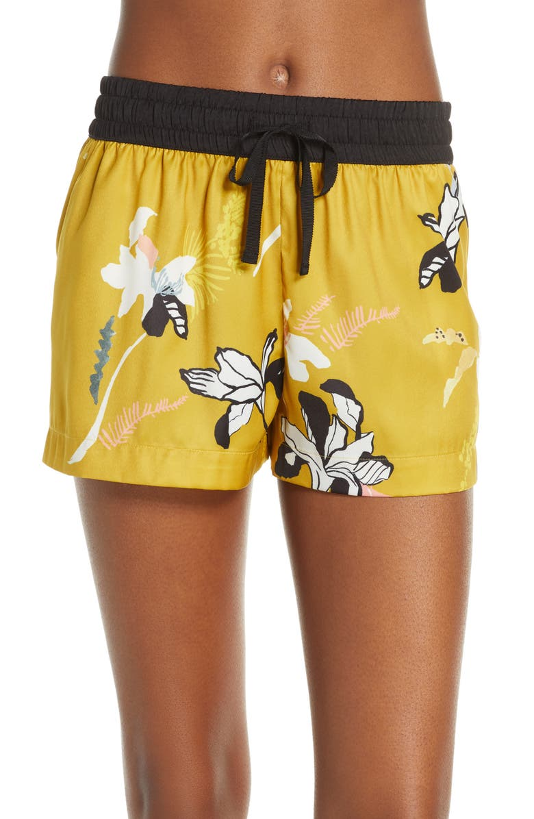 PALINDROME Florentina Floral Satin Pajama Shorts, Main, color, 700