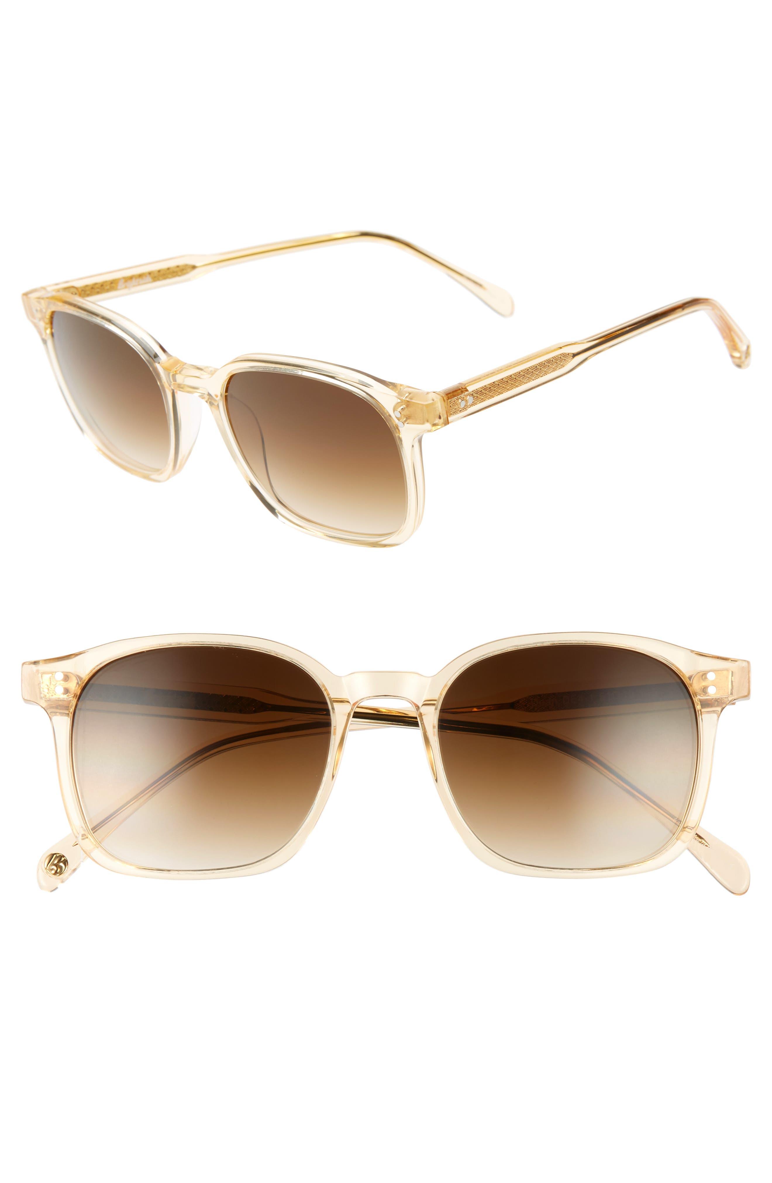 Dean 51mm Square Sunglasses