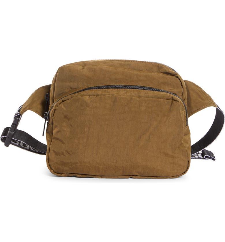BAGGU <sup>®</sup> Nylon Belt Bag, Main, color, KELP