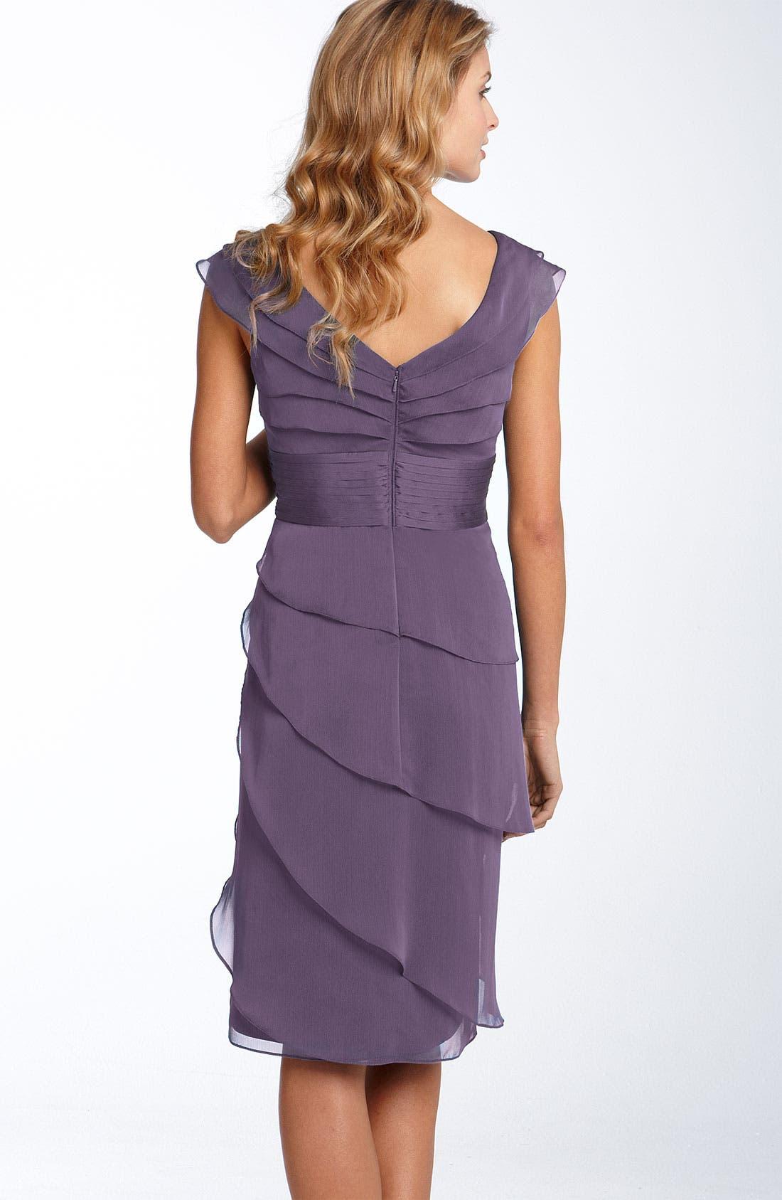 ,                             Tiered Chiffon Dress,                             Alternate thumbnail 45, color,                             521