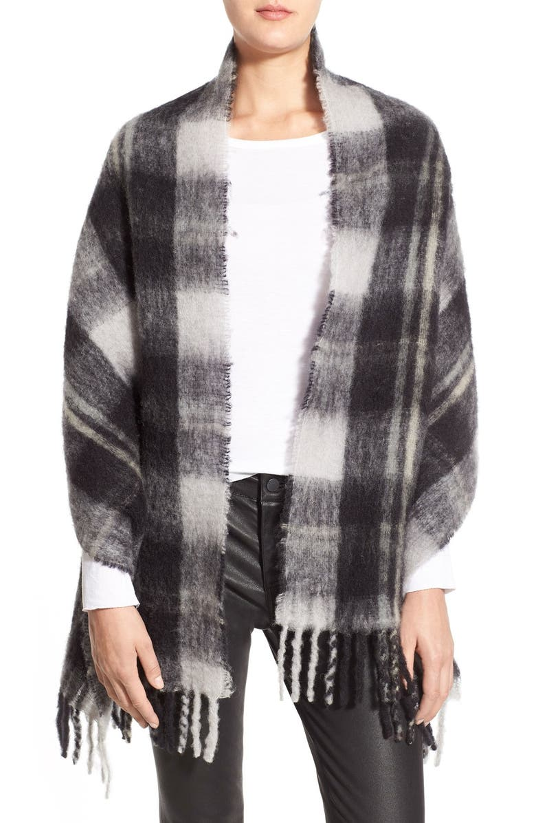 MARC JACOBS MARC BY MARC JACOBS Plaid Blanket Scarf, Main, color, 001