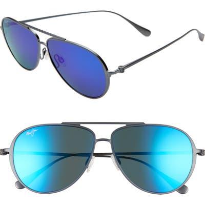 Maui Jim Shallows Polarizedplus2 5m Aviator Sunglasses - Dove Grey