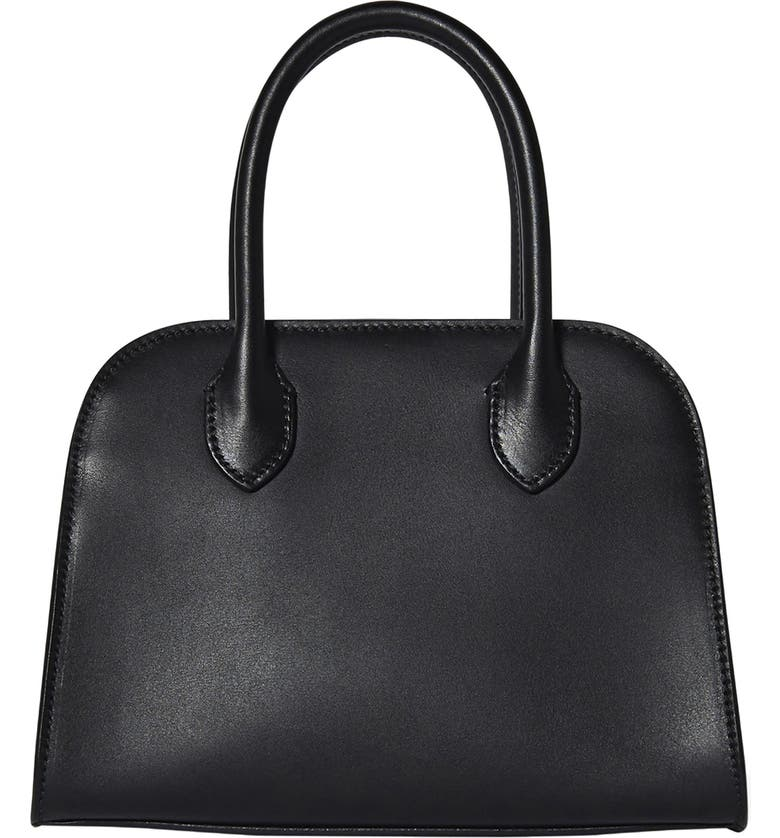 THE ROW Margaux 7.5 Leather Bag, Main, color, BLACK