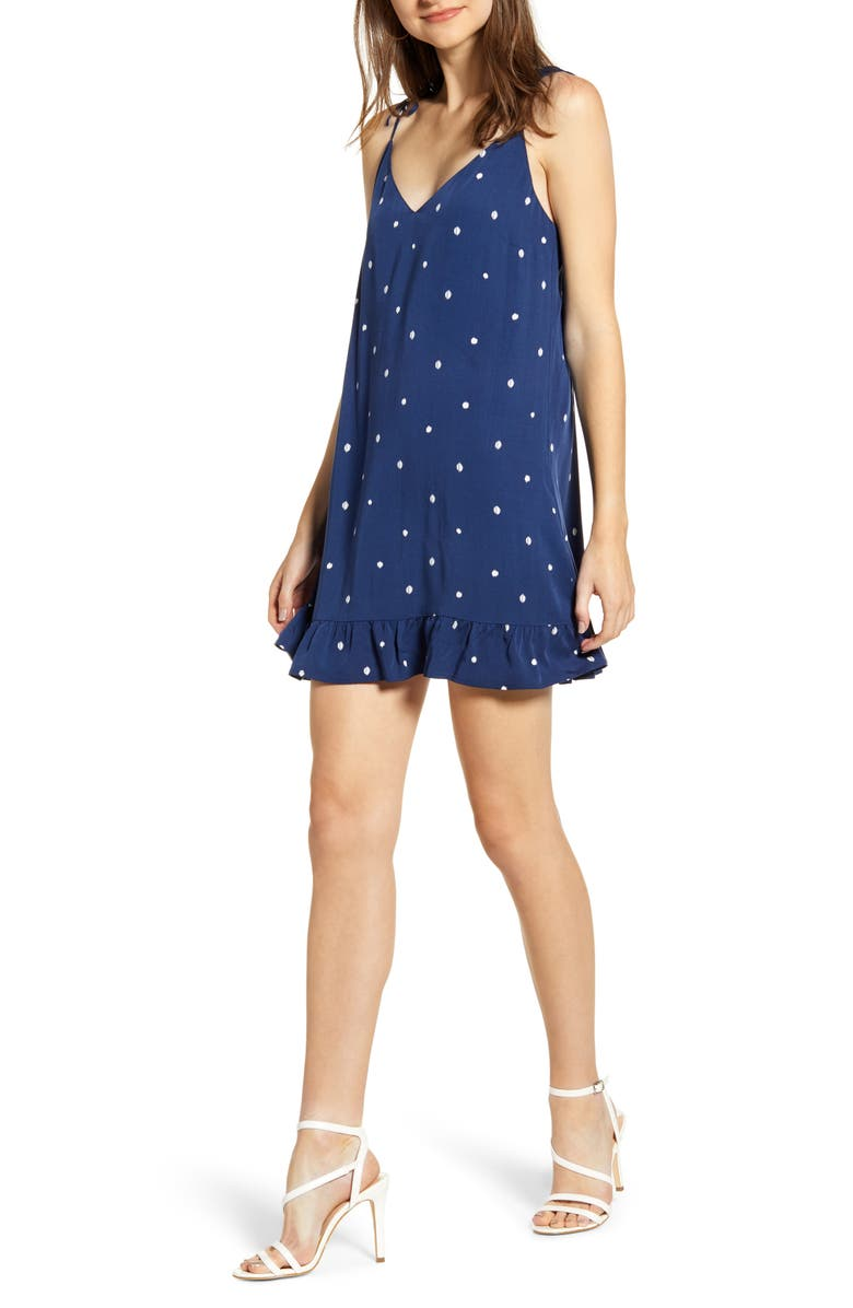 Polka Dot Tie Strap Minidress