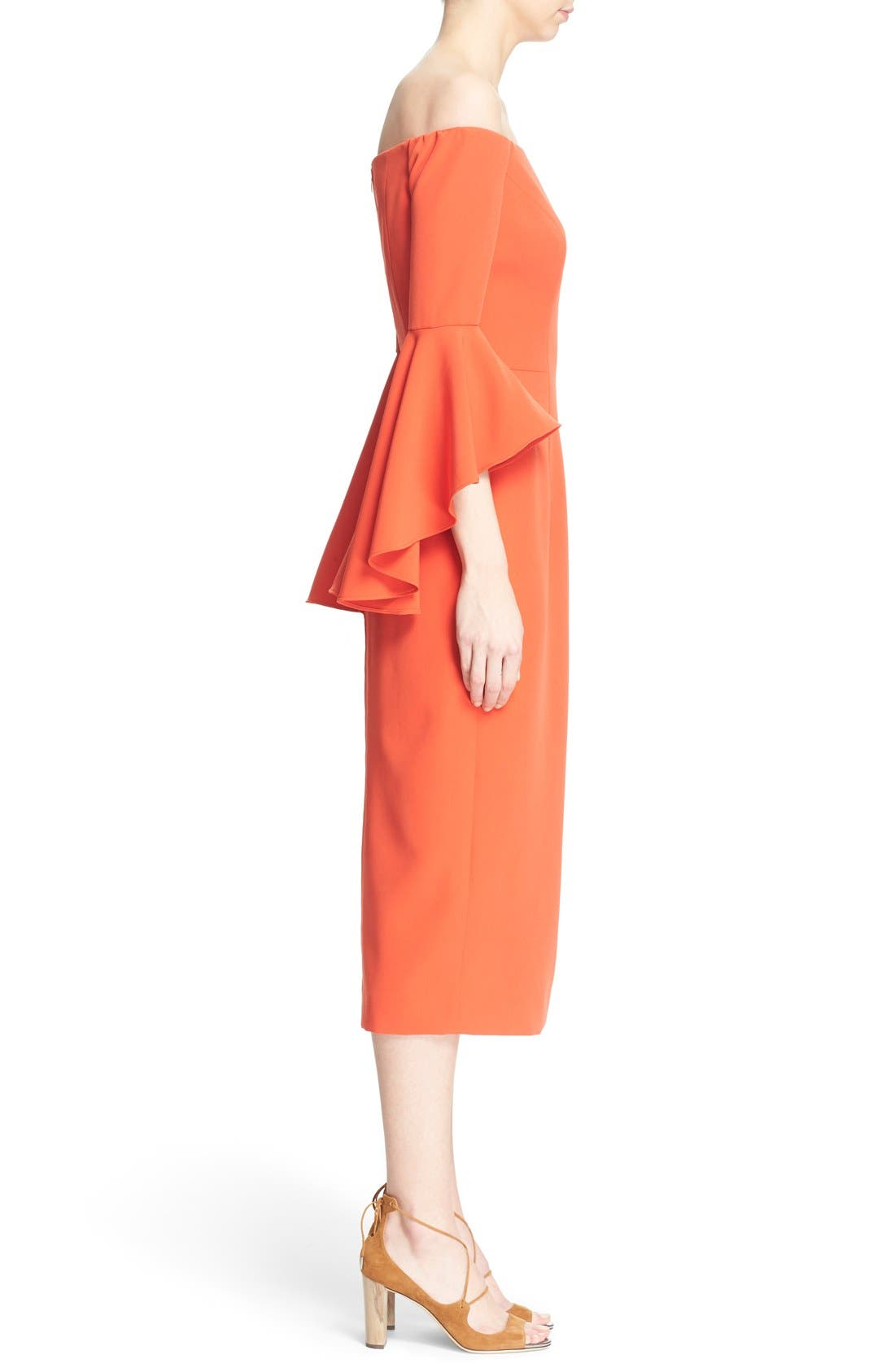 ,                             Selena Off the Shoulder Midi Dress,                             Alternate thumbnail 58, color,                             803
