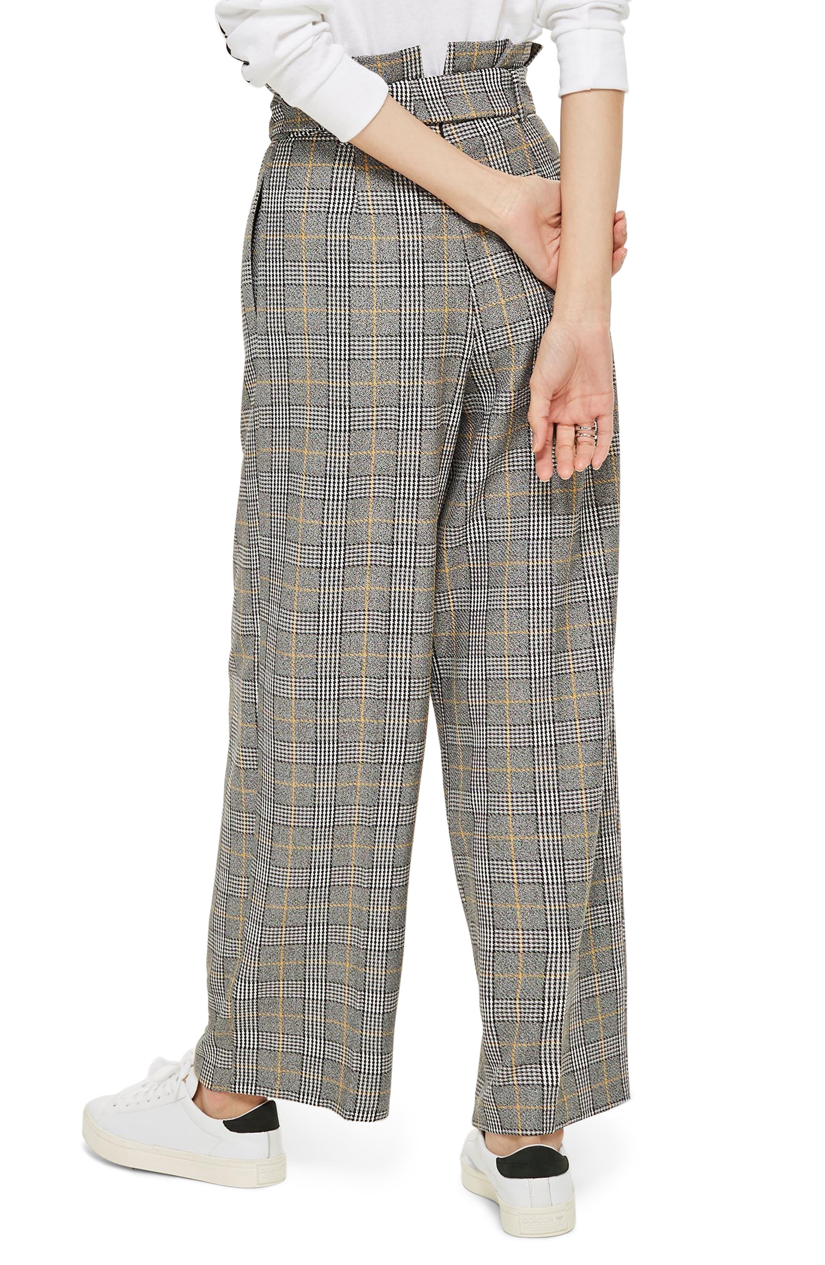 ,                             Check Wide Leg Trousers,                             Alternate thumbnail 2, color,                             020