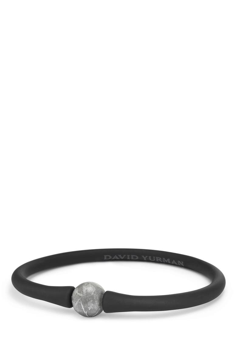 DAVID YURMAN Spiritual Beads Stone Rubber Bead Bracelet, Main, color, METEORITE