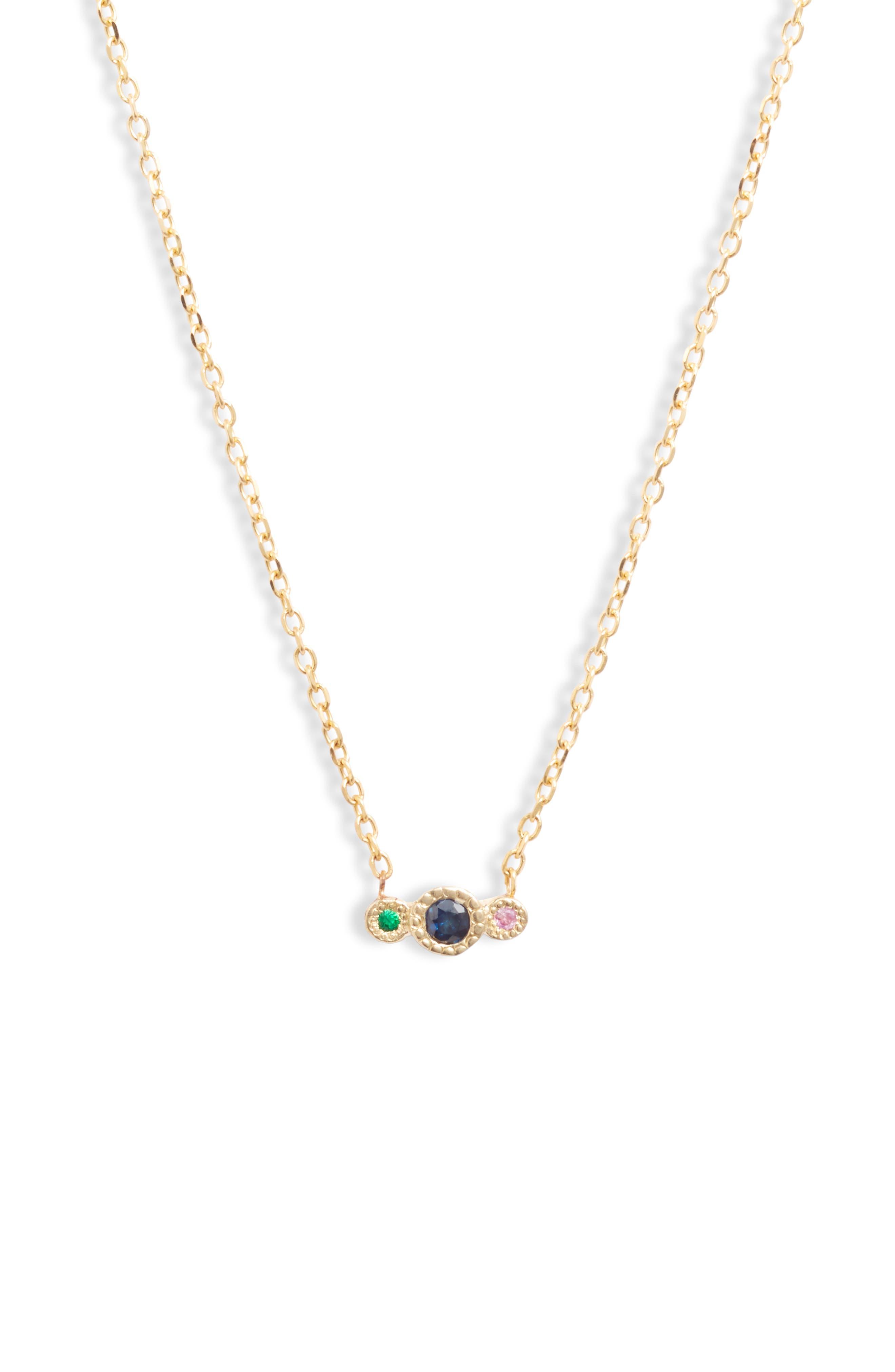 Blue Sapphire Journey Pendant Necklace