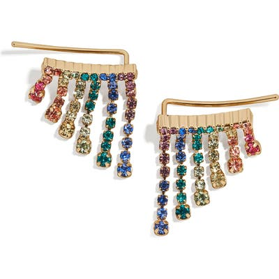 Baublebat Vela Crystal Fringe Earrings