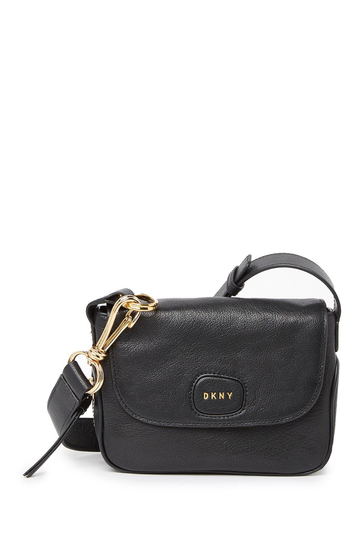 Image of DKNY Randall Small Leather Crossbody Bag